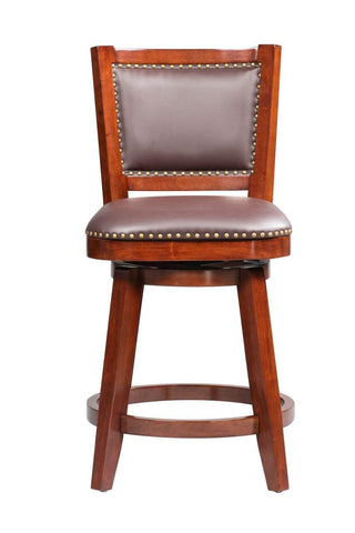 Boraam 51924 Broadmoor Swivel Counter Stool, 40-Inch, Cherry