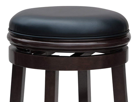 Boraam 44824 Backless Counter Height Stool, 24-Inch, Cappuccino