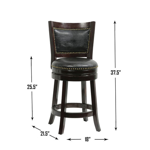 "Boraam 42824 24"" Bristol Swivel Stool"