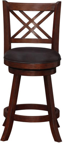"Boraam 65724 24"" Porto Swivel Counter Stool - Peazz Furniture - 1"