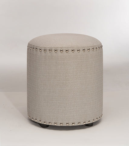 Hillsdale 50993 Laura Backless Vanity Stool - Gray Fabric
