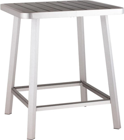 Zuo Modern 703184 Megapolis Bar Table Color Brushed Aluminum Brushed Aluminum Finish - BarstoolDirect.com - 1