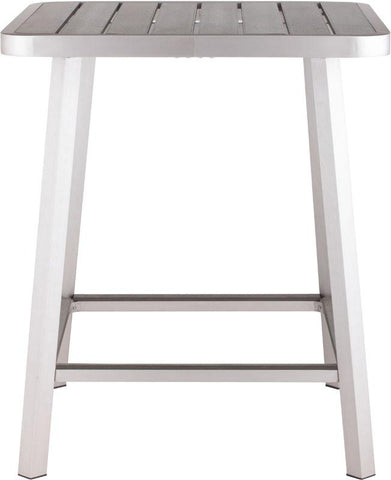 Zuo Modern 703184 Megapolis Bar Table Color Brushed Aluminum Brushed Aluminum Finish - BarstoolDirect.com - 2