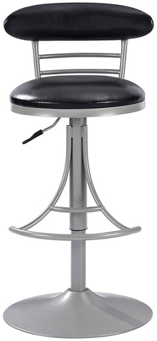 Crosley Furniture CF521026PL-BK Jasper Swivel Counter Stool, 26-inch - Platinum with Black Cushion