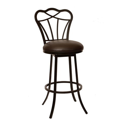 "Armen Living LCGA30BABR Galvin 30"" Transitional Modern Barstool In Coffee  and Auburn Bay Metal"