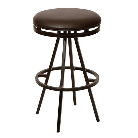 "Armen Living LCFI26BABR Fiji 26"" Modern Barstool In Coffee  and Auburn Bay Metal"