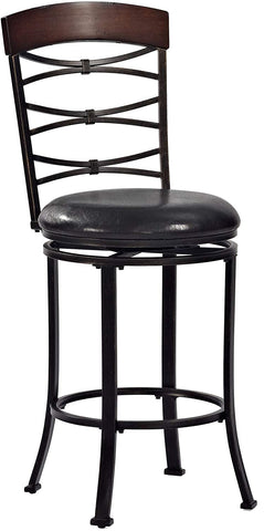 Crosley Furniture CF520926BG-BK Highland Swivel Counter Stool, 26-inch - Black Gold with Black Cushion