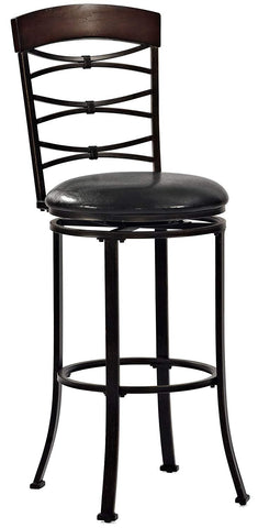 Crosley Furniture CF520930BG-BK Highland Swivel Bar Stool, 30-inch - Black Gold with Black Cushion