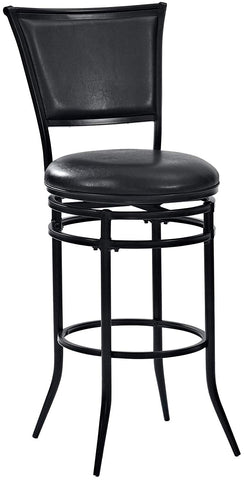 Crosley Furniture CF520030BK-BK Rachel Swivel Bar Stool, 30-inch - Black with Black Cushion