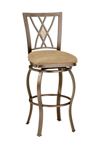 Hillsdale Brookside Diamond Fossil Back Swivel Counter Stool 4815-827 - HillsdaleSuperStore