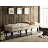 Linon 368254NAT01U Isabelle Bed Bench 62""