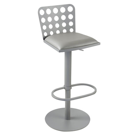 Armen Living LCDUBAGRBA Dune Contemporary Barstool In Gray Metal and Gray