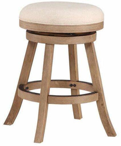 "Boraam 76124 24"" Fenton Counter Stool, Driftwood Gray Wire-brush and Ivory - BarstoolDirect.com"