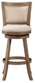 "Boraam 76529 29"" Melrose Barstool, Driftwood Gray Wire-brush and Ivory - BarstoolDirect.com"