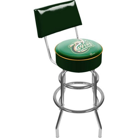 University Of North Carolina Charlotte Clc1100-Uncc Uncc Padded Swivel Bar Stool With Back