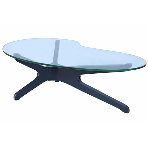 Fine Mod Imports FMI8009-black Sculpt Coffee Table, Black - Peazz.com - 1