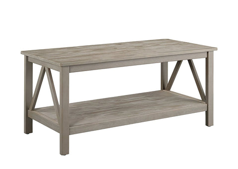 Linon 86151GRY01U Titian Rustic Gray Coffee Table - BarstoolDirect.com