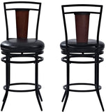 Crosley Furniture CF520126BK-BK Soho Swivel Counter Stool, 26-inch - Black with Black Cushion