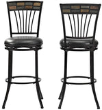 Crosley Furniture CF520830BG-BK Templeton Swivel Bar Stool, 30-inch - Black Gold with Black Cushion