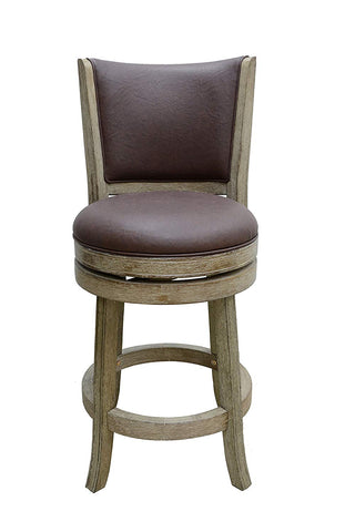 Boraam 86424 Toledo Wire-Brush Swivel Stool, 24-Inch, Weathered White