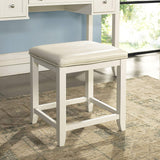 Crosley Furniture KF60002WH Vista Vanity Set with Stool - White
