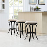 Crosley Furniture CF520526BG-TA Hedley Swivel Counter Stool, 26-inch - Black Gold