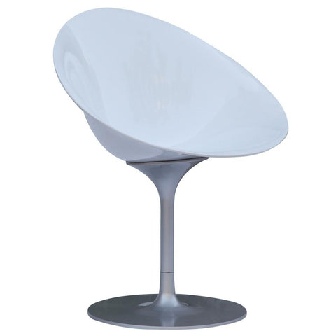 Fine Mod Imports FMI9227-white Eco Flatbase Dining Chair, White - Peazz.com - 1