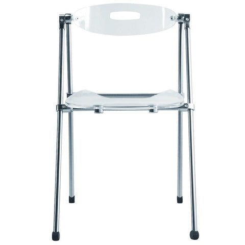Fine Mod Imports FMI9232-clear Acrylic Folding Chair, Clear - Peazz.com - 1