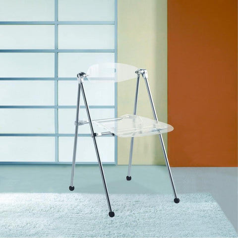 Fine Mod Imports FMI9232-clear Acrylic Folding Chair, Clear - Peazz.com - 5