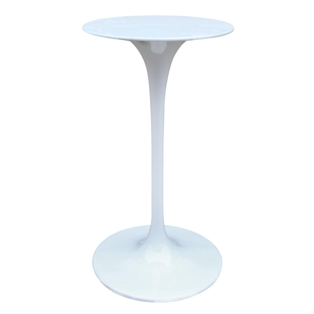 Fine Mod Bar Table White Flower