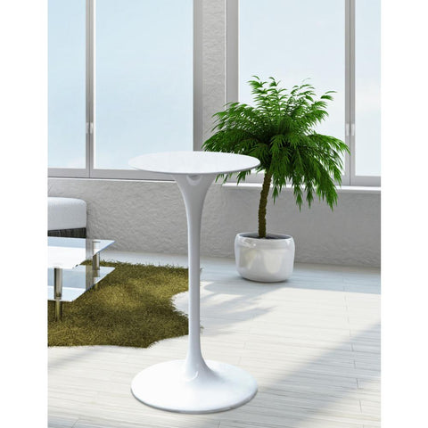 Fine Mod Imports FMI9236-white Flower Bar Table, White - Peazz.com - 7