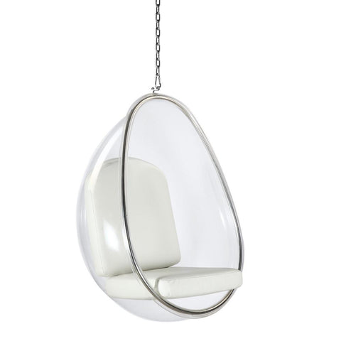 Fine Mod Imports FMI9237-white Balloon Hanging Chair, White - Peazz.com - 1