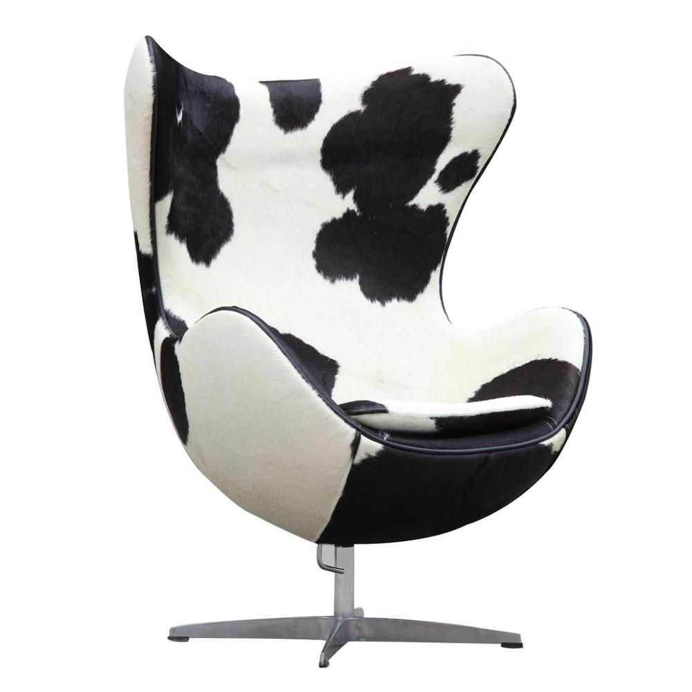 Fine Mod Chair Pony Hide Black White Inner