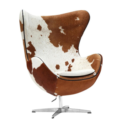 Fine Mod Imports FMI9238-brown Inner Chair Pony Hide, Brown and White - Peazz.com - 1