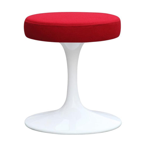 "Fine Mod Imports FMI9251-red Flower Stool Chair 16"", Red - Peazz Furniture - 1"