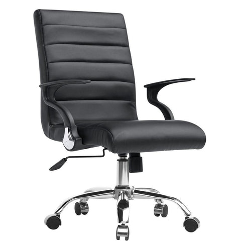 Fine Mod Imports FMI9258-black Timeless Office Chair, Black - Peazz.com - 1