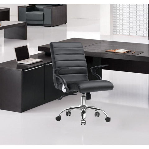Fine Mod Imports FMI9258-black Timeless Office Chair, Black - Peazz.com - 7