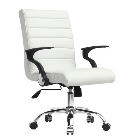 Fine Mod Imports FMI9258-white Timeless Office Chair, White - Peazz.com - 1
