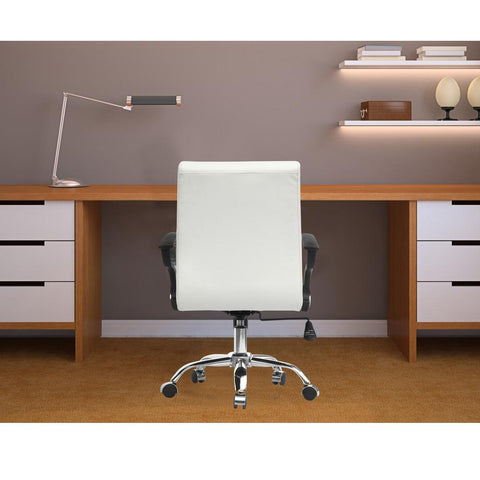 Fine Mod Imports FMI9258-white Timeless Office Chair, White - Peazz.com - 7