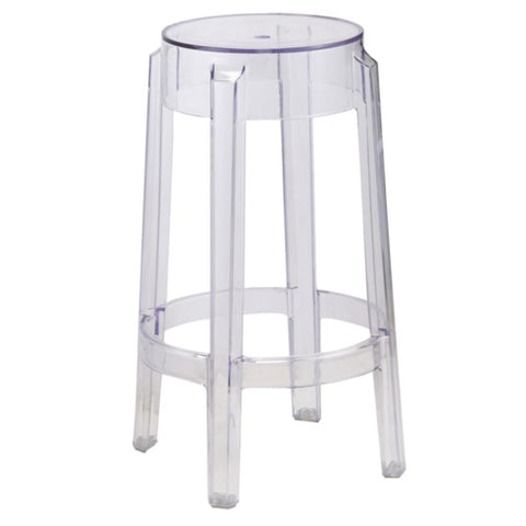Fine Mod Imports FMI9275-clear Clear Counter Stool, Clear - Peazz Furniture - 1