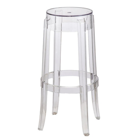 Fine Mod Imports FMI9276-clear Clear Bar Stool, Clear - Peazz Furniture - 1