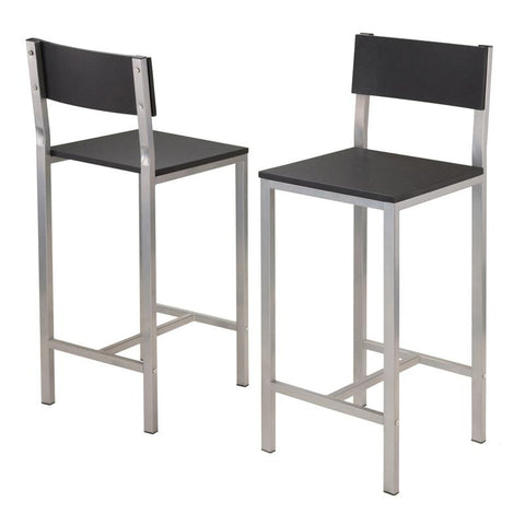 Winsome Wood 93336 Hanley 3-pc High Table with 2 High Back Stools - BarstoolDirect.com - 5