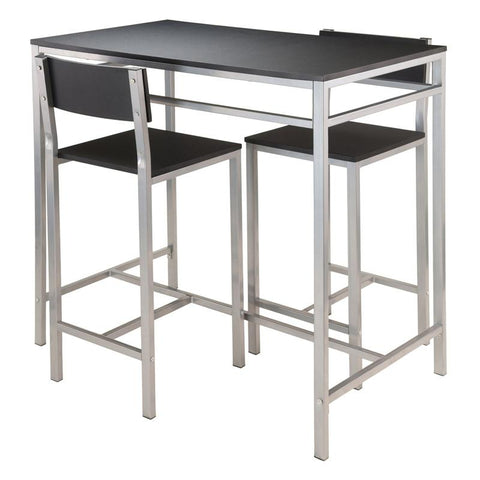 Winsome Wood 93336 Hanley 3-pc High Table with 2 High Back Stools - BarstoolDirect.com - 1