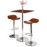 Winsome Wood 93385 Kallie 3-Pc Set Pub Table Bar Height Stools - BarstoolDirect.com - 3