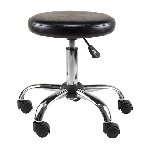 Winsome Wood 93720 Clark Round Cushion Swivel Stool with adjustable height - BarstoolDirect.com - 1
