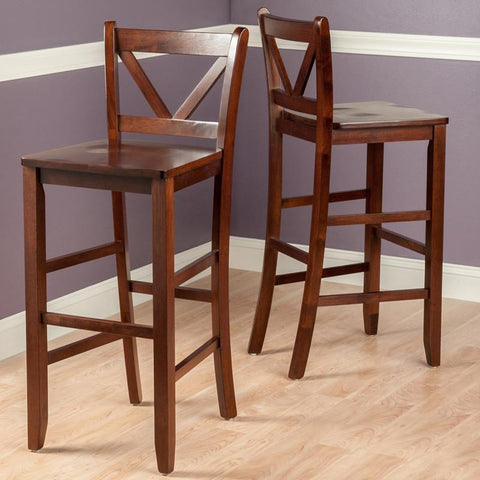 "Winsome Wood 94259 Victor 2-pc 29"" V Back Bar Stools - BarstoolDirect.com - 2"
