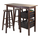 Winsome Wood 94560 Egan 5pc Breakfast Table with 2 Baskets and 2 Stools - BarstoolDirect.com - 2