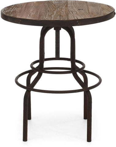 Zuo Modern 98180 Twin Peaks Counter Table Color Distressed Natural Metal Finish - BarstoolDirect.com - 3