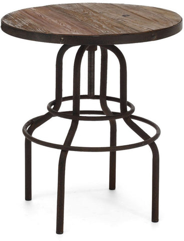 Zuo Modern 98180 Twin Peaks Counter Table Color Distressed Natural Metal Finish - BarstoolDirect.com - 1