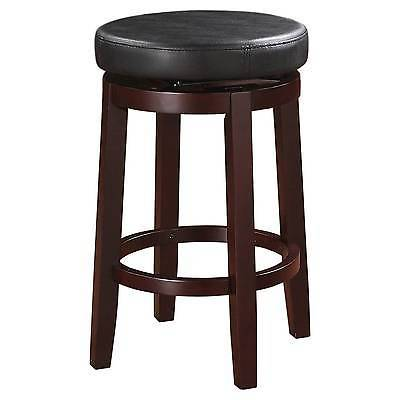 "Linon 98352KBLK-01-KD Maya Black 24"" Counter Stool"